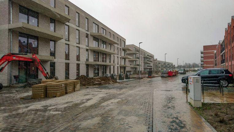 Het nieuwe woongebied De Weverij, tussen Antwerpsesteenweg, Lamstraat en Lindenstraat.