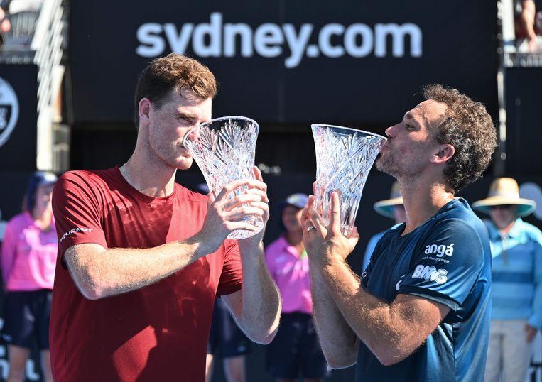 Jamie Murray (links) en Bruno Soares (rechts).