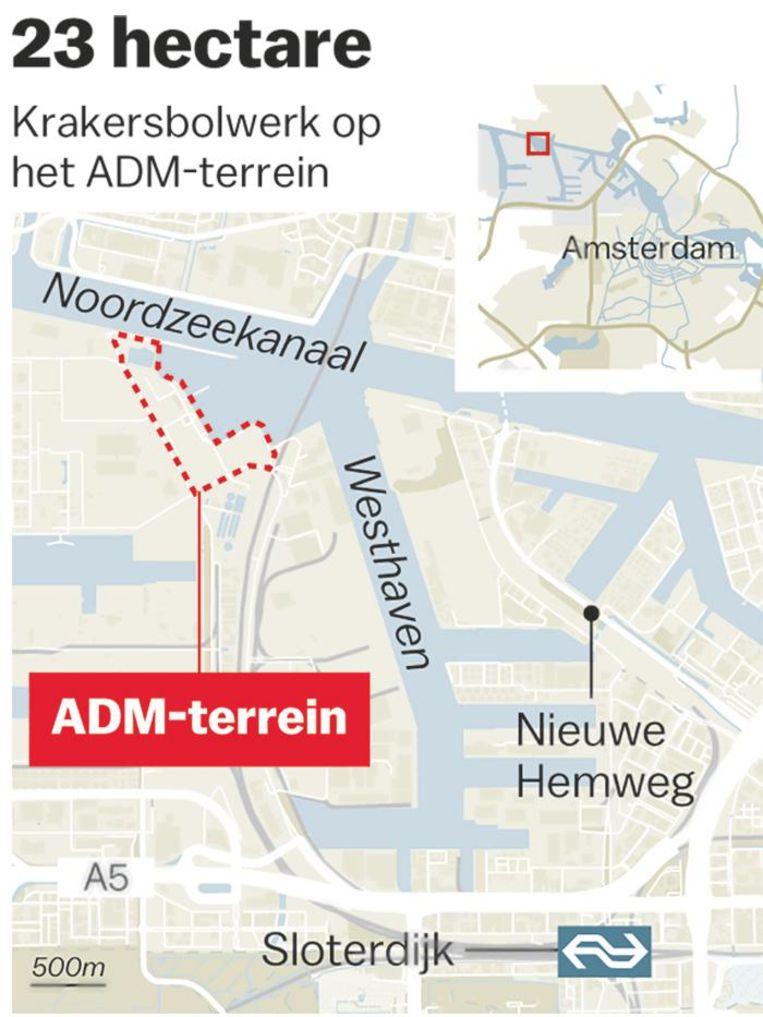 De locatie van het ADM-terrein Beeld Laura Van Der Bijl