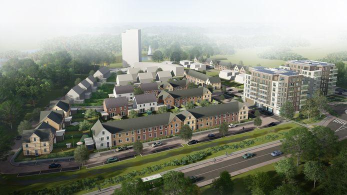 Het woningbouwplan Wilhelminahaven in Oosterhout.
