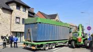 Na technisch mankement: truck kantelt net niet op voetpad