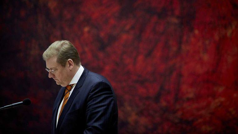 Minister Ard van der Steur tijdens het vragenuur in de Tweede Kamer. Beeld anp