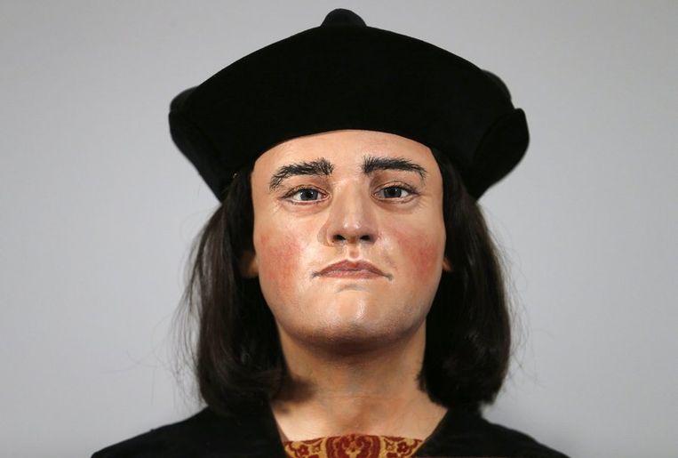 De reconstructie van het hoofd van koning Richard III. Beeld reuters