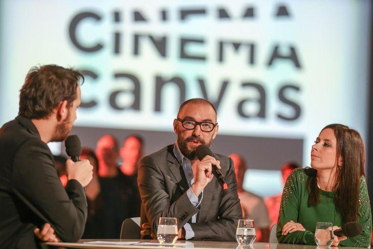 Michaël Roskam tijdens een interview in Loods 66 voor cinema Canvas.