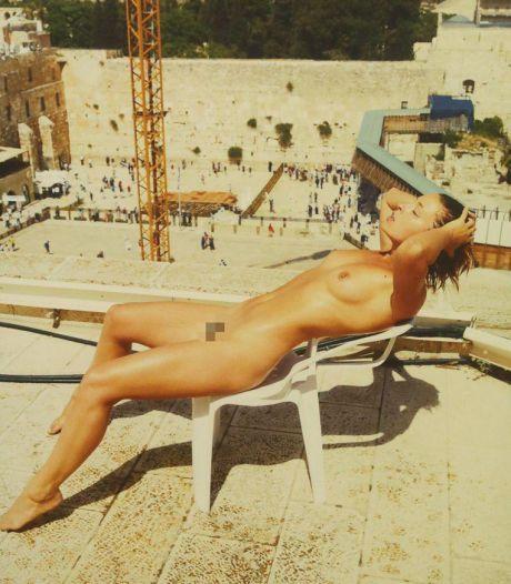 Un mannequin belge fait scandale en posant nu près du mur des Lamentations