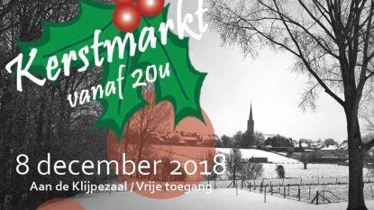 Kerstmarkt in openlucht aan de Klijpe