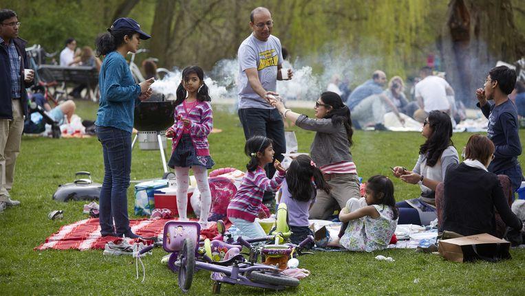 Vrienden van het Vondelpark willen dat afgelopen barbecueseizoen wordt geëvalueerd. Beeld anp