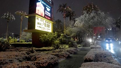 Zeldzaam: Las Vegas in de sneeuw