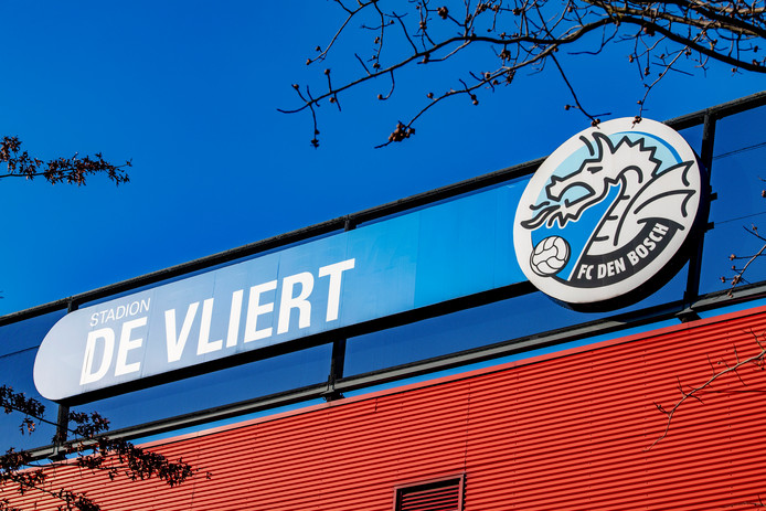 Exterieur van het stadion van FC Den Bosch. De club is in opspraak omdat supporters racistische liedjes zongen in de wedstrijd tegen Excelsior.