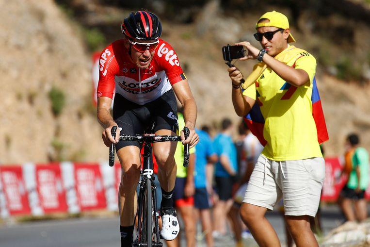 Jelle Wallays, hier op een archiefbeeld tijdens de Vuelta.