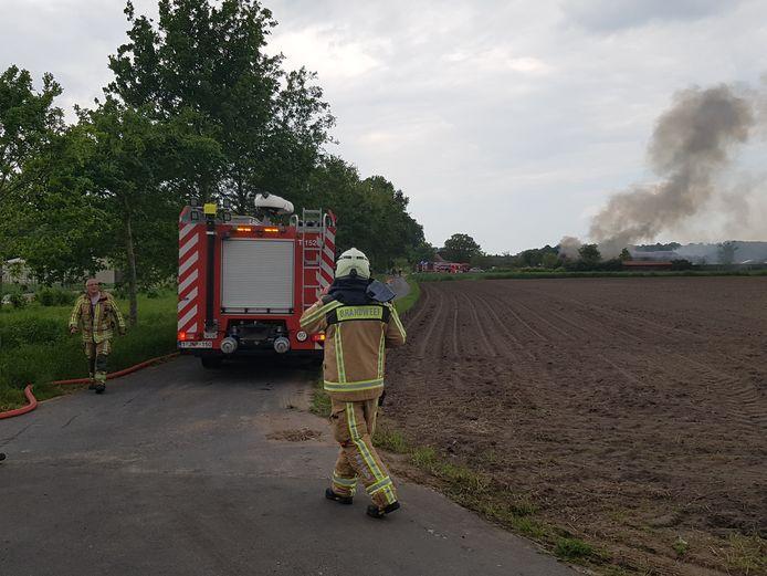 Zowel de brandweer van Gistel, Torhout, Brugge en Oostende kwamen ter plaatse.