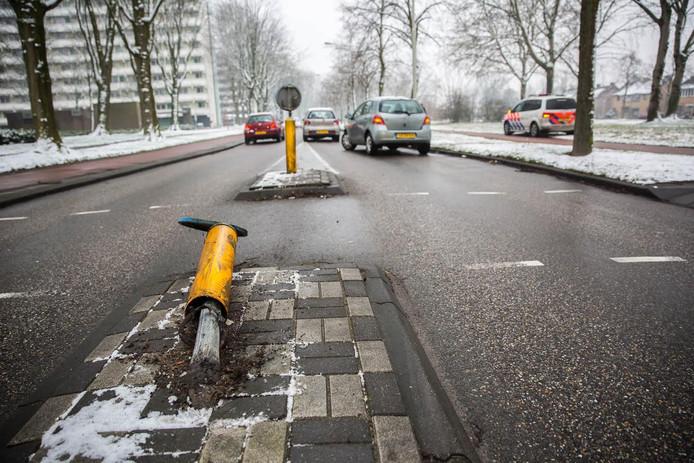 Eenzijdig ongeluk in Roosendaal