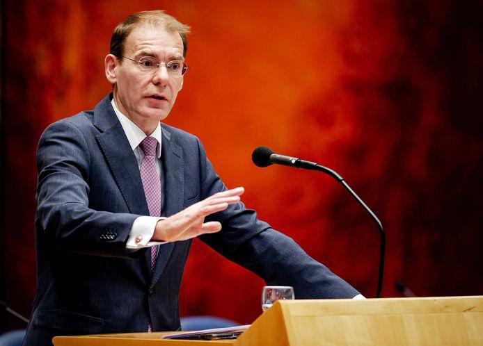 Staatssecretaris Menno Snel van Financiën tijdens het debat in de Tweede Kamer