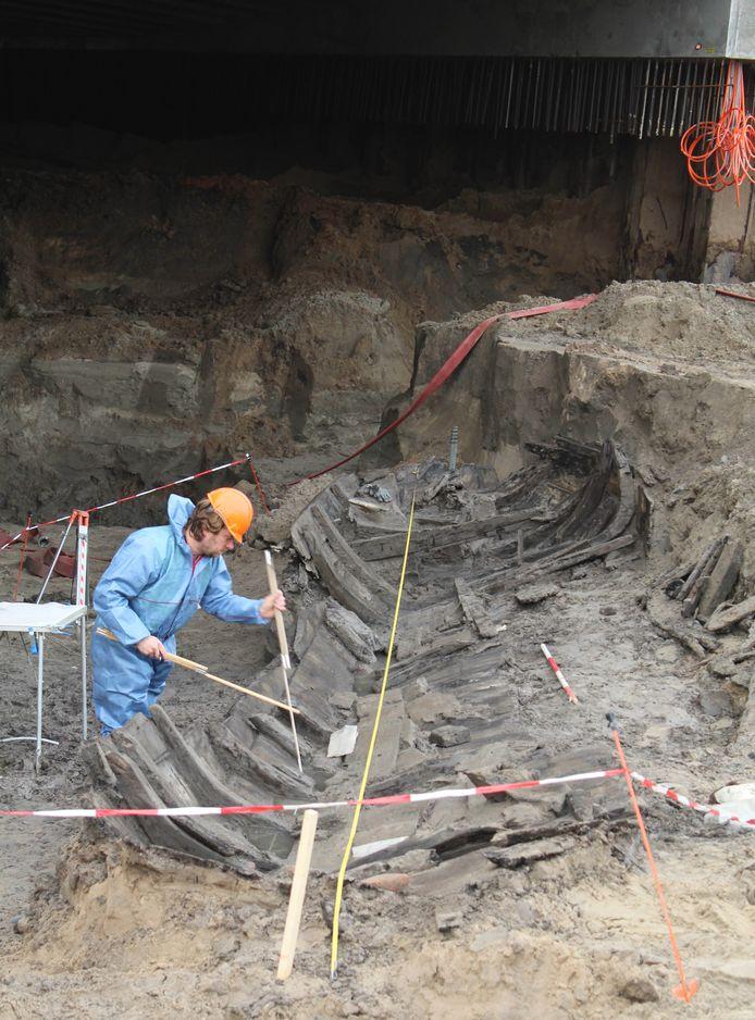 De Zutphense stadsaak,  gevonden bij de bouw van de Marstunnel, krijgt een nieuw plekje.