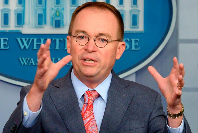 Mick Mulvaney is sinds begin 2019 waarnemend stafchef van het Witte Huis.