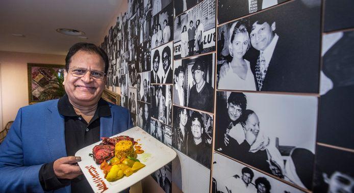 Zafar Siddiqui is de eigenaar van de nieuwe zaak Rice n Spice. Het is een oude rot in het vak. Heel bekend Bolywood is met hem op de foto gegaan, maar ook Tatjana (foto rechts) hangt op zijn wall of fame.