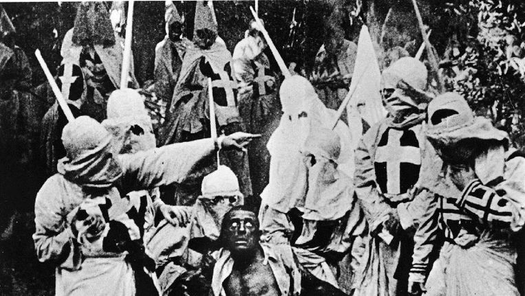 Beeld uit The Birth of a Nation (1915). Beeld