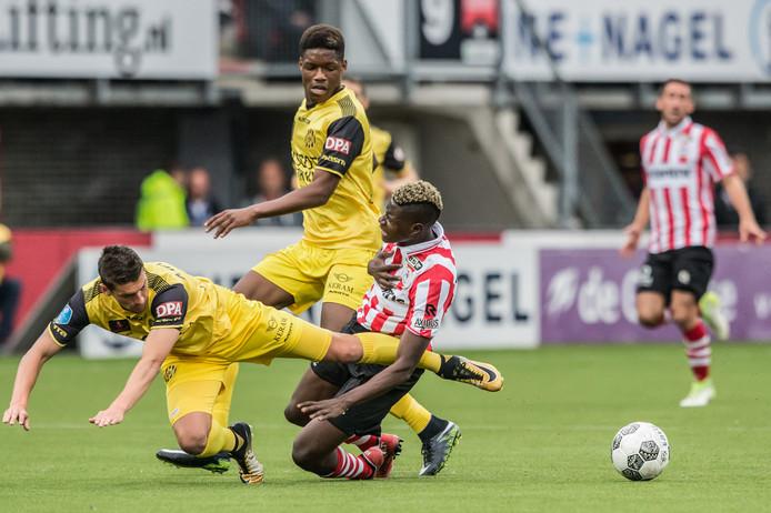 Het degradatieduel tussen Sparta en Roda JC.