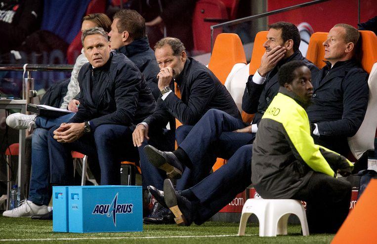 Bondscoach Danny Blind van het Nederlands elftal tijdens het kwalificatieduel Nederland - Tsjechie voor het EK voetbal in de Amsterdam ArenA. Beeld anp