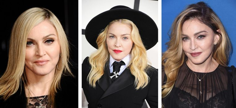 Madonna in 2011, 2014, 2016 (vlnr) Beeld Getty Images