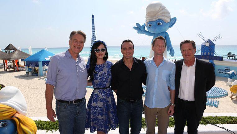 Regisseur Raja Gosnell, Katy Perry, Hank Azaria, Neil Patrick Harris en producer Jordan Kerner