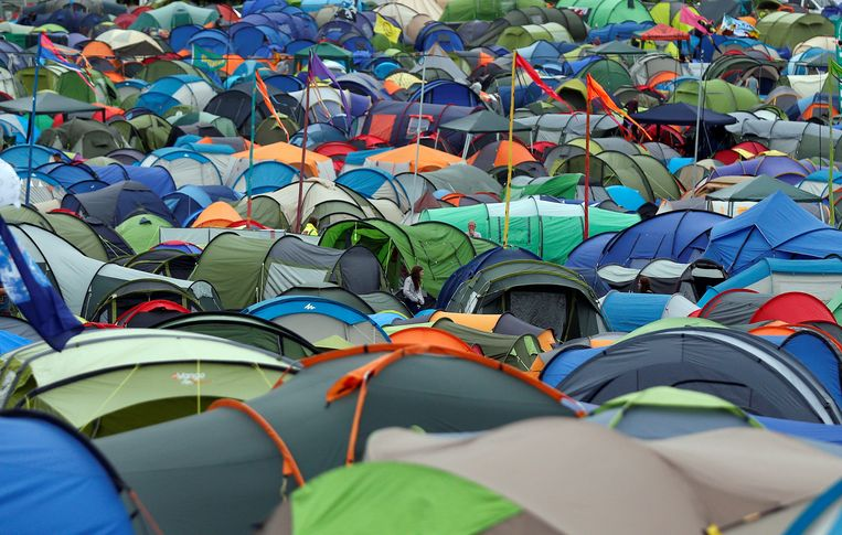 Kamperen op Glastonbury.