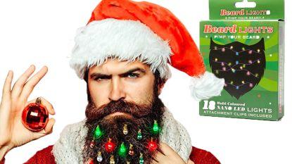 Je kan nu ook kerstlichtjes kopen om in je baard te hangen