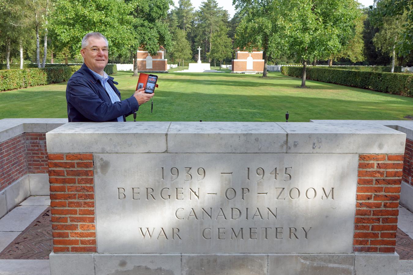 René Luijsterburg ontwikkelde een wandel-app die vanaf de Canadese en Britse begraafplaatsen in Bergen op Zoom langs oorlogslocaties voert. Informatie over elk punt op de route is te lezen én te horen via de app.