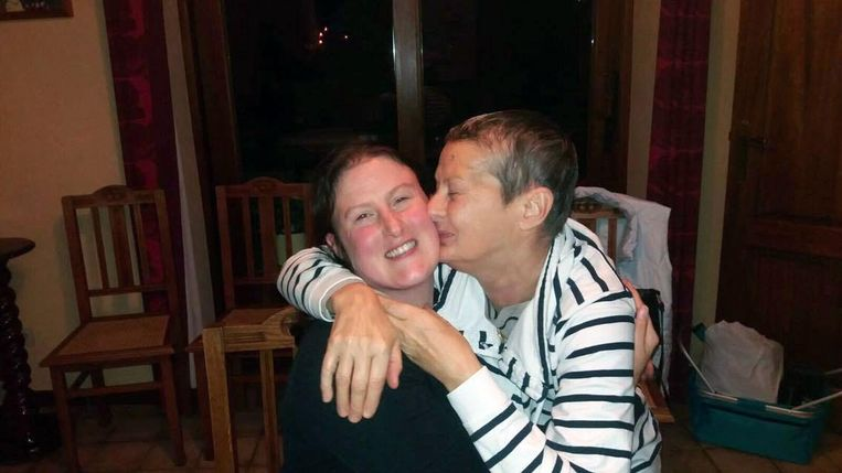 Jessica Colson met haar mama Micheline 'Michke' Raeyen.