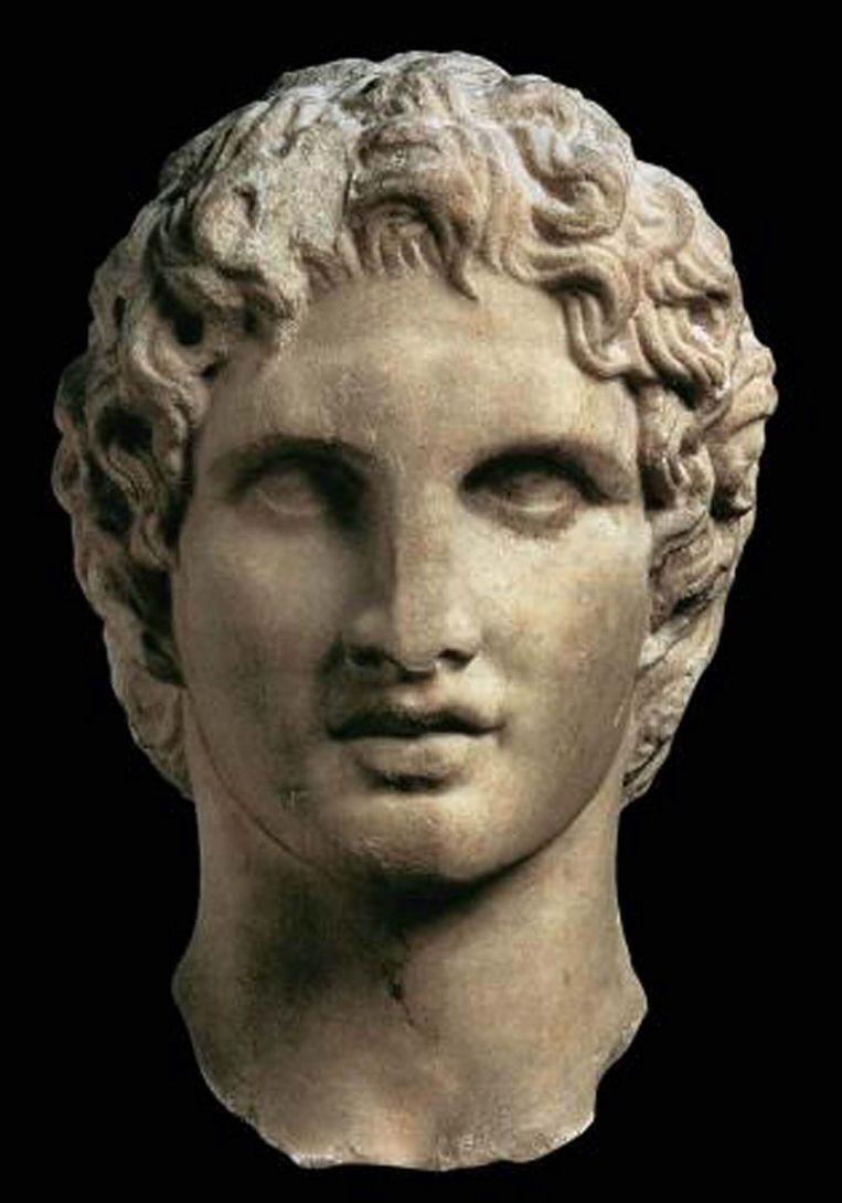 Een beeld van Alexander uit ongeveer 335 voor Christus.