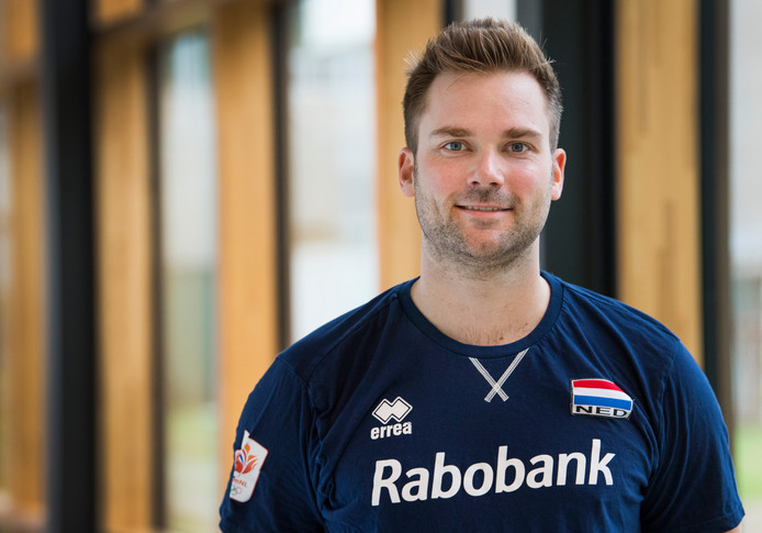 De Tilburgse volleyballer Dirk Sparidans