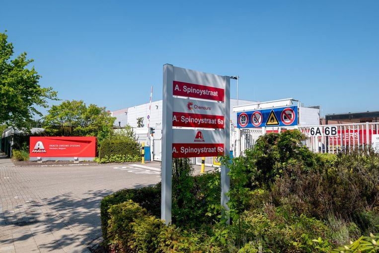 De vestiging van de verffabriek van Axalta in Mechelen.
