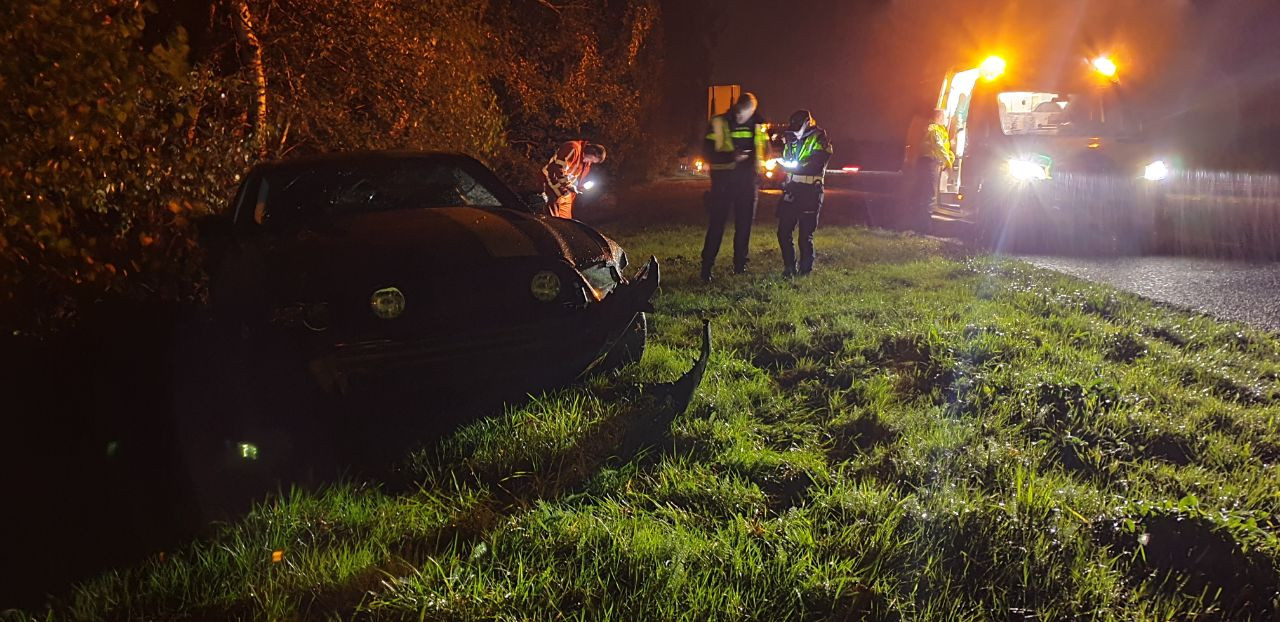 Dinsdagavond heeft er een eenzijdig ongeval plaatsgevonden op de A35 bij Hengelo