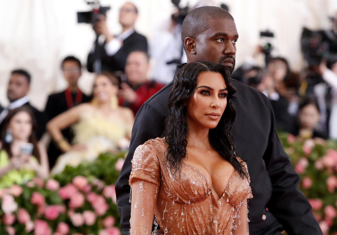 Kim en Kanye tijdens het MET-gala