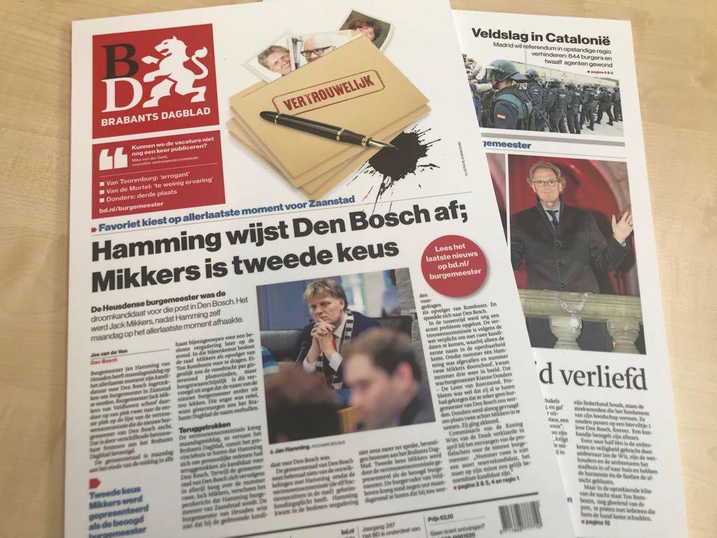 De publicatie over de burgemeestersbenoeming in Den Bosch leidde uiteindelijk tot een strafonderzoek van het Openbaar Ministerie.