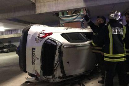 Oeps! Belg dondert met auto twee verdiepingen naar beneden in betaalparking