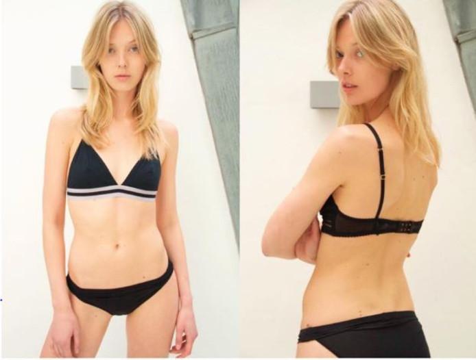 Het Deense model Ulrikke Hoyer