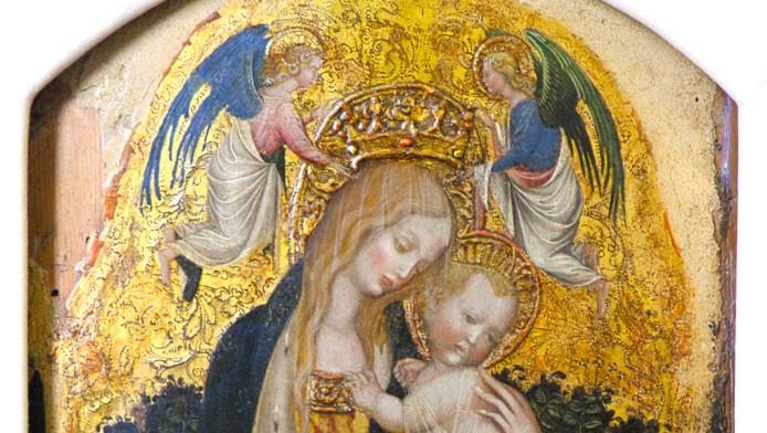 Het schilderij Madonna della Quaglia is onderdeel van de buit.