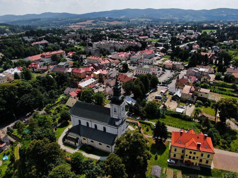 Tuchów, in zuidoost-Polen, is sinds juni vorig jaar 'lhbt-vrij'. 'Omwille van het leven, het gezin en de vrijheid.' Beeld Getty Images