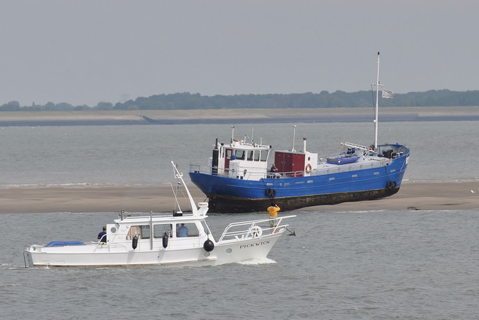 De rondvaartboot was met 26 passagiers op krabbenexcursie, strandde rond tien uur op de Plaat en liep vast.