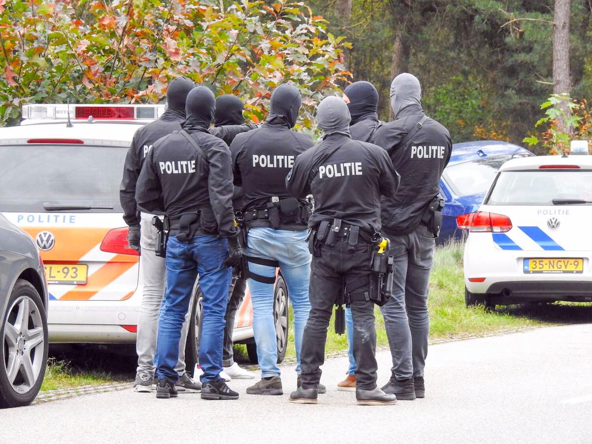 De politieactie in Maarheeze.