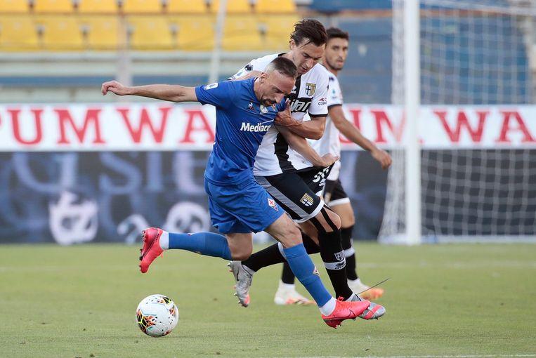 Ribéry aan het werk tegen Parma.