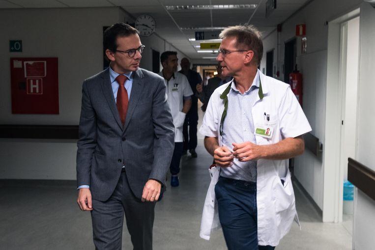 Minister van Welzijn Wouter Beke  bezoekt het Virga Jessa ziekenhuis.