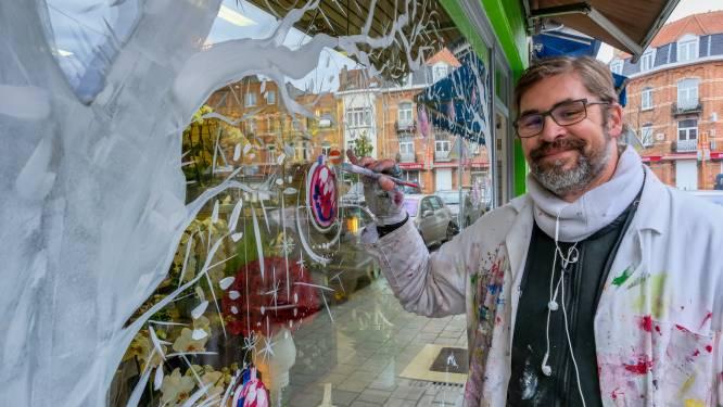 """Hugo (45) hult honderdtal handelszaken in eindejaarssfeer als 'Art Hugo EP': """"Schilderen als therapie"""""""