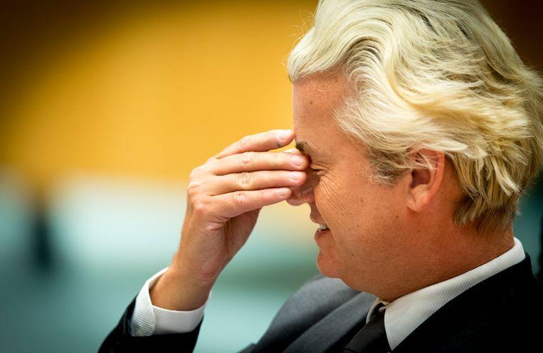 PVV-leider Geert Wilders bedankt dit keer voor een CPB-doorrekening. Beeld anp