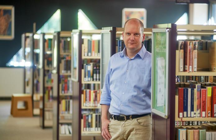 Martijn Wijngaards, de nieuwe locatiemanager van de Udense bibliotheek.