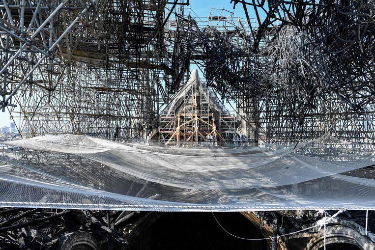 De Notre-Dame werd op 15 april verwoest door een brand.