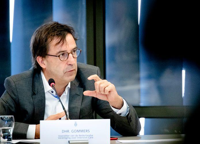 Diederik Gommers, voorzitter van de Nederlandse Vereniging voor Intensive Care. 'Dat gedoe met zware coronaboetes en een strafblad vond ik echt niet goed'.