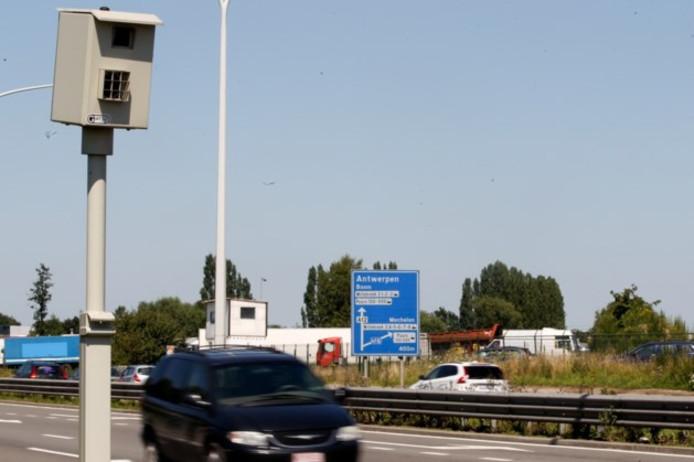 Flitspaal in België