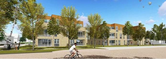 De verhuur van de woningen en appartementen in het project Burgemeesterkwartier in Raalte gaat van start. Impressie van de 22 appartementen aan de Westdorplaan,